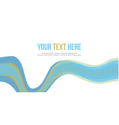 Abstract website header blue wave style vector