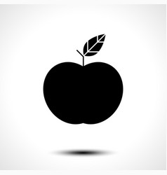 apple icon isolated on white background vector image vector image