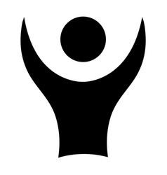 Avatar silhouette emblem icon vector
