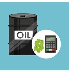 Barrel oil concept calculator planning money vector
