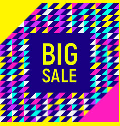 big sale abstract background neon memphis style vector image vector image