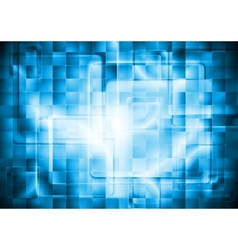 Blue technology background vector image