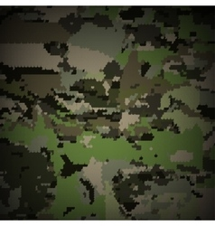 Camouflage military halftone pattern background vector image vector image