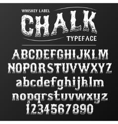 Chalkboard typeface modern font written on the vector