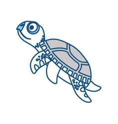 cute marine turtle vector image vector image