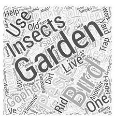 Dealing with garden pests word cloud concept vector