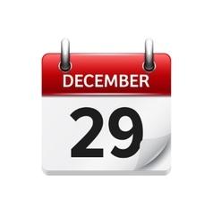 December 29 flat daily calendar icon vector