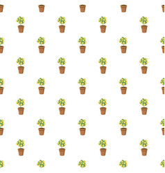 Decorative tree in flowerpot pattern vector