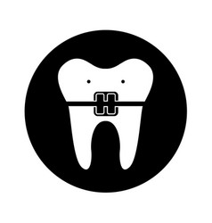 Dental healthcare isolated icon vector