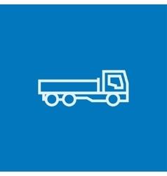 Dump truck line icon vector image vector image