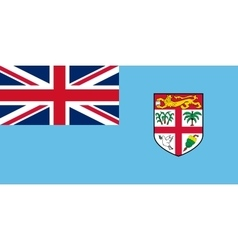 Flag of fiji in correct size and colors vector
