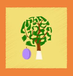 Flat shading style plant prunus vector