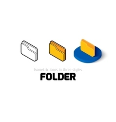 Folder icon in different style vector image
