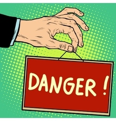 Hand sign danger vector image vector image