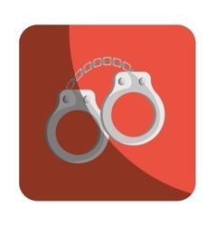 Handcuffs justice isolated icon vector