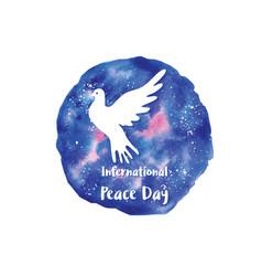 holiday greetings international peace vector image vector image
