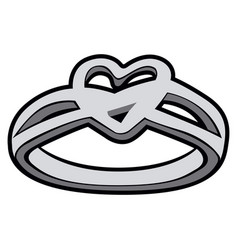 isolated silver ring vector image