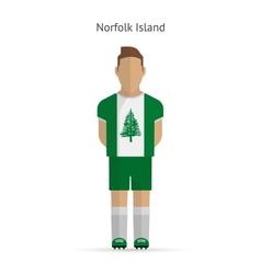 Norfolk Island football player Soccer uniform vector image vector image