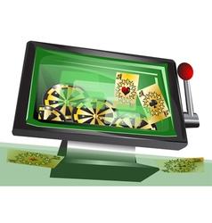 online gambling vector image