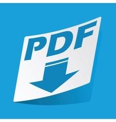 PDF download sticker vector image