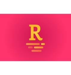R royal hotel vintage letter logo template vector