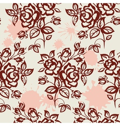 roses and blots vector image