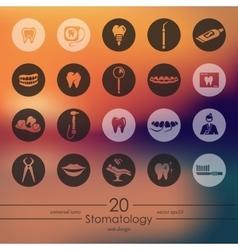 Set of stomatology icons vector image