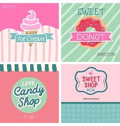 Sweet shop set - vector