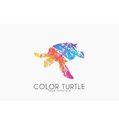 Turtle logo design color turtle creative logo vector