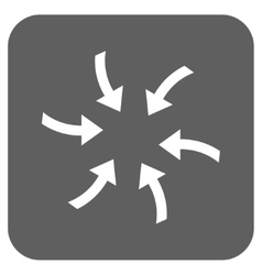 Twirl arrows flat squared icon vector