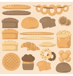 Bakery or pastry product types vector