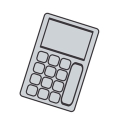 Gray silhouette tech with solar calculator pocket vector