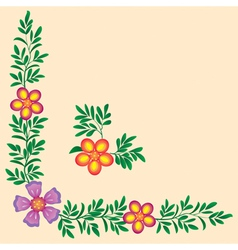 Flowers corner decoration vector