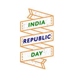 india republic day greeting emblem vector image