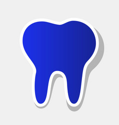 Tooth sign   new year bluish vector