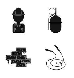 Worker grenade and other web icon in black style vector