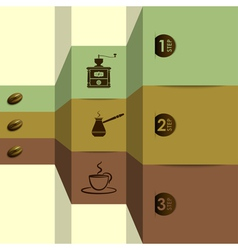 Coffee options vector