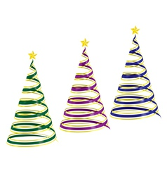Christmas tree ribbons vector