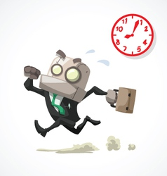 Businessman rush hour vector