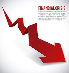 Financial crisis design vector