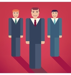Group of business people with vector