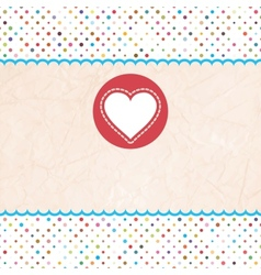 valentines Hearts Card vector image