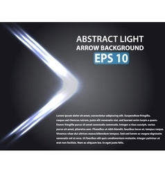 Abstract background with light arrow vector