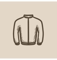 Biker jacket sketch icon vector