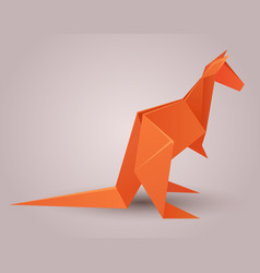a paper origami kangaroo paper vector image