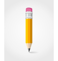 Back to School yellow pencil vector image vector image