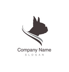 boston terrier logo vector image vector image