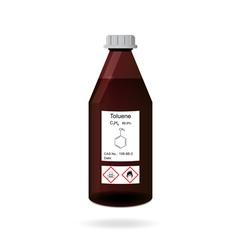 Bottle with toluene vector