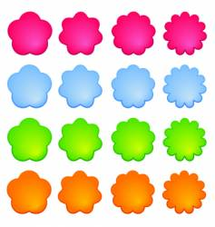 buttons flower vector image