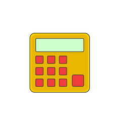 Calculator outline icon vector
